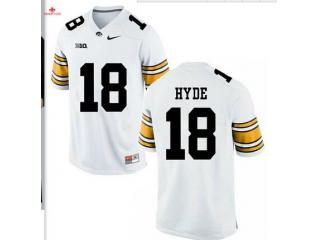 Iowa Hawkeyes 18 Micah Hyde College Football Jersey White