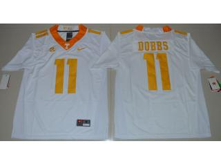 Tennessee Volunteers 11 Joshua Dobbs Coolege Football Jersey White
