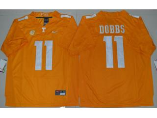 Tennessee Volunteers 11 Joshua Dobbs Coolege Football Jersey Yellow