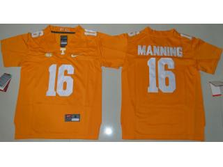 Youth Tennessee Volunteers 16 Peyton Manning Coolege Football Jersey Yellow