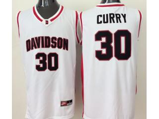 Davidson Wildcat 30 Stephen Curry College Basketball Jersey White