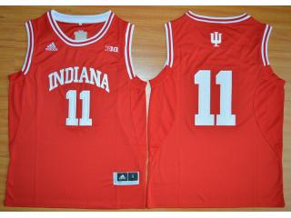 Indiana Hoosiers 11 Isiah ThomasBig 10 Patch NCAA Basketball Jersey Red