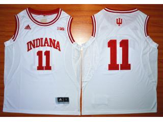 Indiana Hoosiers 11 Isiah ThomasBig 10 Patch NCAA Basketball Jersey White