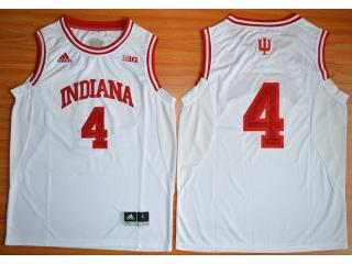 Indiana Hoosiers 4 Victor Oladipo 10 Patch NCAA Basketball Jersey White