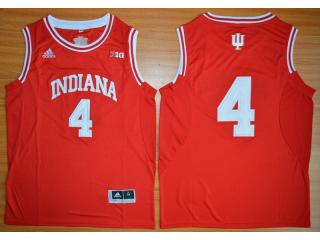 Indiana Hoosiers 4 Victor Oladipo 10 Patch NCAA Basketball Jersey Red