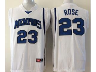 Memphis Tigers 23 Derrick Rose College Basketball Jersey White