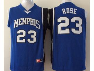 Memphis Tigers 23 Derrick Rose College Basketball Jersey Blue