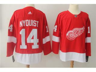 Adidas Classic Detroit Red Wings 14 Gustav Nyquist Ice Hockey Jersey Red