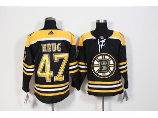 Adidas Classic Boston Bruins 47 Torey Krug Ice Hockey Jersey Black