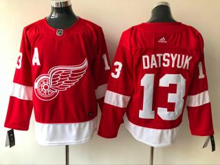 Adidas Classic Detroit Red Wings 13 Pavel Datsyuk Ice Hockey Jersey Red