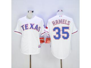 Texas Rangers 35 Cole Hamels Baseball Jersey White