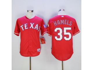 Texas Rangers 35 Cole Hamels Baseball Jersey Red