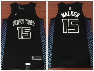 Nike New Orleans Hornets 15 Kemba Walker Basketball Jersey Black City Edition Fans Edition