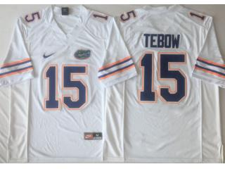 New Florida Gators 15 Tim Tebow College Football Jersey White