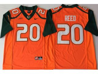 Miami Hurricanes 20 Ed Reed College Football Jersey Orange
