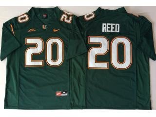 Miami Hurricanes 20 Ed Reed College Football Jersey Green