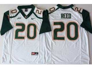 Miami Hurricanes 20 Ed Reed College Football Jersey White