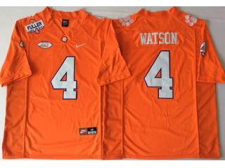 Clemson Tigers 4 DeShaun Watson College Football Jersey Orange