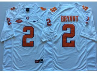 Clemson Tigers 2 Kelly Bryant College Football Jersey White