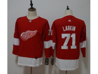 Youth Adidas Classic Detroit Red Wings 71 Philip Larkin Ice Hockey Jersey Red