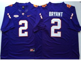 Clemson Tigers 2 Kelly Bryant College Football Jersey Purple