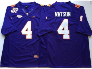 Clemson Tigers 4 DeShaun Watson College Football Jersey Purple
