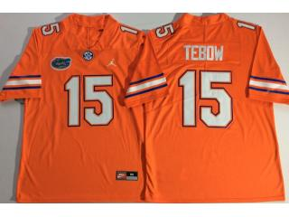 Jordan Florida Gators 15 Tim Tebow College Football Jersey Orange