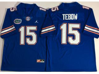Jordan Florida Gators 15 Tim Tebow College Football Jersey Blue