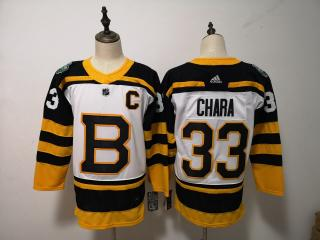 Adidas Classic Boston Bruins 33 Zdeno Chara Ice Hockey Jersey White