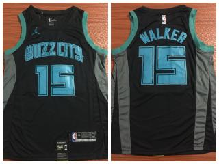 Nike New Orleans Hornets 15 Kemba Walker Basketball Jersey Black City version
