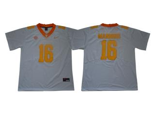 Tennessee Volunteers 16 Peyton Manning Limited Coolege Football Jersey White