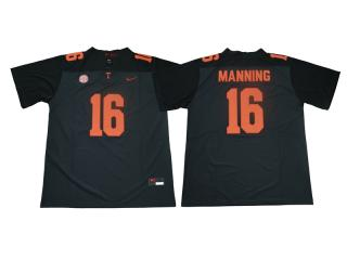 Tennessee Volunteers 16 Peyton Manning Limited Coolege Football Jersey Gray Orange Word