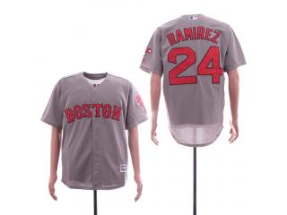 Boston Red Sox 24 Hanley Ramirez Baseball Jersey Gray Fans
