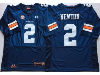 Auburn Tigers 2 Cameron Newton College Football Throwback Jersey Navy Blue