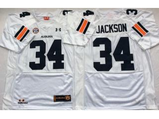 Auburn Tigers 34 Bo Jackson College Football Throwback Jersey White