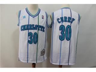 New Orleans Hornets 30 Dell Curry Basketball Jersey White Retro