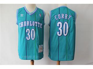 New Orleans Hornets 30 Dell Curry Basketball Jersey Blue Retro