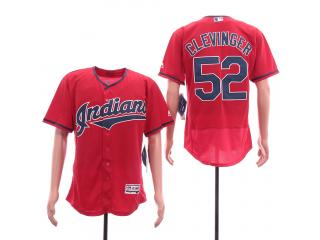 Cleveland indians 52 Mike Clevinger Flexbase Baseball Jersey Red