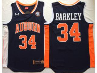 Auburn Tigers 34 Charles Barkley College Basketball Jersey Navy Blue