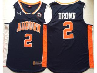 Auburn Tigers 2 Tucker Brown College Basketball Jersey Navy Blue