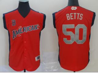 ALL Star Boston Red Sox 50 Mookie Betts Baseball Jersey Orange
