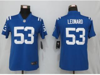 Women Indianapolis Colts 53 Darius Leonard Football Jersey Legend Blue