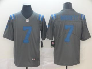 Indianapolis Colts 7 Jacoby Brissett Football Jersey Legend Gray