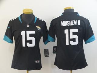 Women Jacksonville Jaguars 15 Gardner Minshew II Football Jersey Legend Black