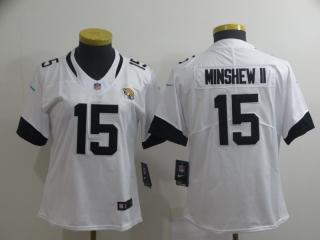 Women Jacksonville Jaguars 15 Gardner Minshew II Football Jersey Legend White