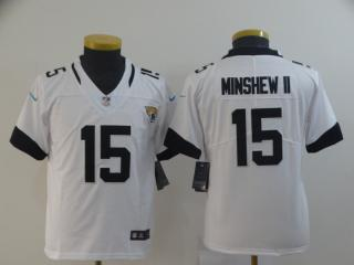 Youth Jacksonville Jaguars 15 Gardner Minshew II Football Jersey Legend White