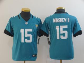 Youth  Jacksonville Jaguars 15 Gardner Minshew II Football Jersey Legend Green