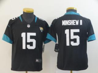 Youth  Jacksonville Jaguars 15 Gardner Minshew II Football Jersey Legend Black