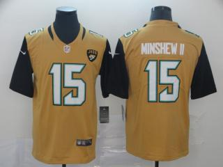 Jacksonville Jaguars 15 Gardner Minshew II Football Jersey Legend Yellow