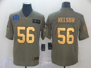 Indianapolis Colts 56 Quenton Nelson Olive Salute To Service Limited Jersey Gold Word